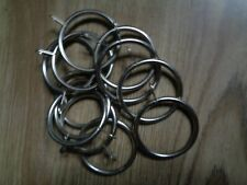 SILVER METAL CURTAIN RINGS  X 12 -  5cm  (just under )DIAMETER APPROX