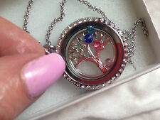 neine namenskette new Silver Plated Tree of Life Pendant with swarovski crystals