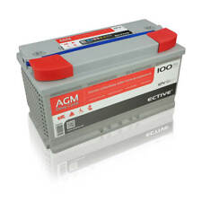 Ective edc100 AGM Deep Cycle 12v 100ah BATTERIA PIOMBO tessuto non tessuto-batteria VRLA Batteria