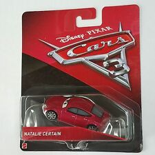 Disney Pixar Cars 3 Natalie Certain Diecast Mattel 1:55 Scale RSN Network