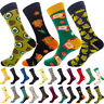 Colorful Mens Novelty Funny Casual Sock Wedding Fruit Print Socks Animal Cotton