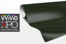 Army Green Matte car vehicle wrap vinyl 10ft x 5ft sheet VViViD XPO sheet roll