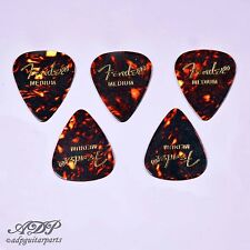 5x MEDIATORS FENDER Celluloid 351 SHELL TORTOISE MEDIUM Guitar PICKS