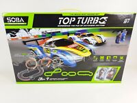 TOP TURBO 1:43 Large Remote Control Slot Car Racing Track Set Childrens Toy Game