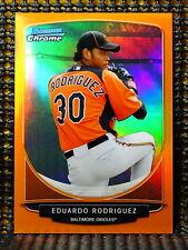 EDUARDO RODRIGUEZ  -  2013 BOWMAN CHROME PROSPECTS ORANGE REFRACTOR     #ED/25