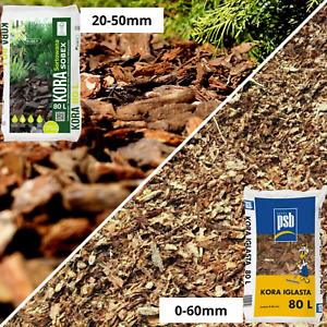 WOODEN BARK Mulch Chippings wood Landscaping Garden Surfacing Flower HIGHQUALITY