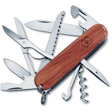 """Victorinox Swiss Army Huntsman HardWood w/ Scissors, Saw 91mm 3.5"""" 53713 NEW"""