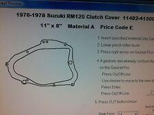 Suzuki RM125  Clutch cover Gasket  1976 1977 1978