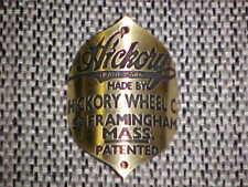 Hickory Bicycle Badge Head Tube Emblem 1800's Wheel Co.
