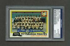 Chuck Tanner signed Pittsburgh Pirates 1981 Topps team baseball card Psa slabbed