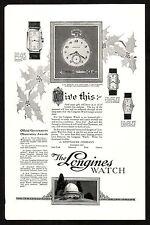 1920s Original Vintage Whittnauer Longines Pocket Wrist Watch Art Deco Print Ad