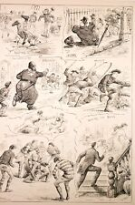 "humour, saynètes, ""winter sports "" the illustrated sporting ... vers 1890"