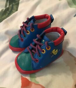 Stride Rite Vintage Lace Up Shoes/Booties Baby Boy Size 2