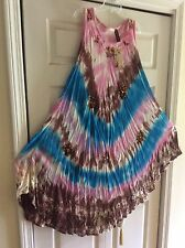 BoHo Tye Dye Women's Free Style Dress-Free Size