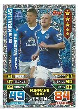 2015 / 2016 EPL Match Attax Duo (446) MIRALLAS / NAISMITH Everton