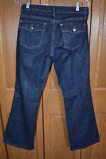 Women's Flap Pocket Denim Jeans BANANA REPUBLIC 29/85 MINT Flare Low Waist