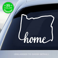 "Oregon State ""Home"" Decal - OR Home Car Vinyl Sticker - Add a heart over a city!"