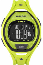 Timex TW5M01700, Men's 50-Lap Ironman Green Resin Watch, Indiglo, Chronograph