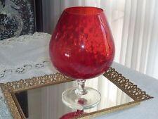 FABULOUS MID CENTURY MURANO / VENETIAN RUBY RED ART VASE ITALY C 1950'S