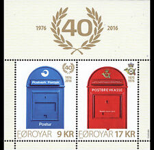 Faroes 2016 40yrs Post office m/s mnh/postfris us
