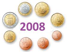 Serie - 2008 - 8 pieces  Coins  3,88 EURO - Saint Marin  San Marino