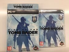 RISE OF THE TOMB RAIDER 20 year celebration pc box & carton box only English UK
