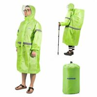 Camping Waterproof Rain Poncho Multi-purpose Raincoat Tent Mat Sun Shelter