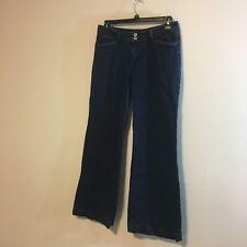 levis womens jeans size 16 Medium dark wash flare leg s5