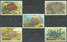 Timbres Faune marine Barbade 614/8 ** lot 15293