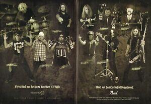 2004 2pg Print Ad Pearl Advance Hardware w Morgan Rose Eric Singer Joey Jordison