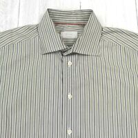 ETON Contemporary Dress Shirt Sz 41 16 Striped Long Sleeve Button Down