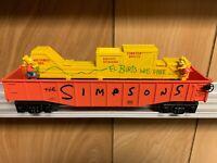 ✅LIONEL THE SIMPSONS ANIMATED CHASE GONDOLA 6-26802 O GAUGE TRAIN BART OPERATING