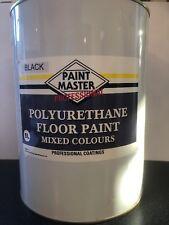 BLACK POLYURETHANE GARAGE/WORKSHOP FLOOR PAINT 5 LT