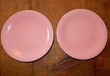 """Vintage FIESTAWARE Pink ROSE Set of 2 PLATES  6"""" HOMER LAUGHLIN"""