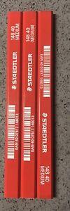 3 x Staedtler Medium Carpenters Pencil Premium Graphite 148-40