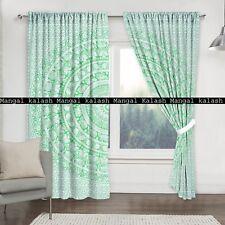 Indian Decor Elephant Mandala Window Door Cotton Drapes Balcony Room Curtain Set