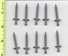 Lord of the Rings LEGO 10 Flat Silver Minifig, Weapon Sword, Greatsword Pointed