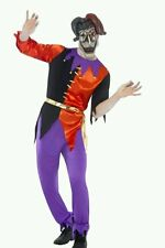 "MENS CIRQUE SINISTER TWISTED JESTER HALLOWEEN COSTUME MASK LARGE CHEST 42"" - 44"""