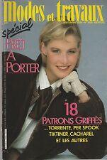 Modes et travaux N°1006 Septembre 1984  page poupées couture tricot