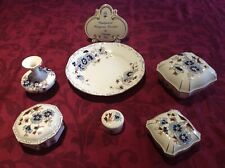 More details for zsolnay porcelain collection cornflower blue handpainted unused & perfect