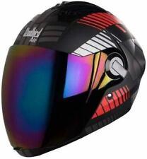 Steelbird Air Sba-2 Robot Full Face Motorcycle Matt Black Red Silver Helmet-L