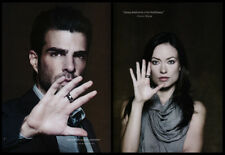 Zachary Quinto / Olivia Wilde 2-page clipping 2009 - education, literacy