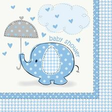 Blue Elephants Animals Baby Shower Party Supplies Tableware Decorations 16 Napkins 33cm