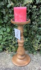 MANGO WOOD CANDLE STAND ~ MOROCCAN SHABBY CHIC