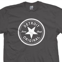 Detroit Original Inverse T-Shirt - Born and Bred in Tee - All Sizes & Colors