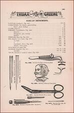 Hare Lip Surgical, Medical Instruments, antique catalog page, original 1893