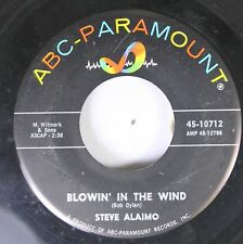50'S & 60'S  45 Steve Alaimo - Blowin' In The Wind / Lady Of The House On Abc-Pa