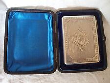 CARD CASE VICTORIAN STERLING SILVER GU BIRMINGHAM 1881