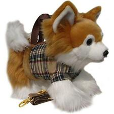 Bolso de cabello largo amantes de los perros Chihuahua Niñas Divertido Peluche Correa para el Hombro Bolso de mano