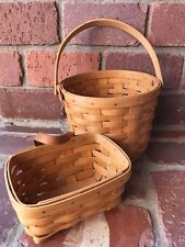 Longaberger Baskets Set Of 2 ~ 1995 And 1999 Excellent Condition!